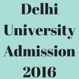 Delhi UniversityAdmission 2016