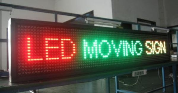 LED Signs Which Are Scrolling Create More Impact With Less Money
